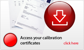 Calibration certificates available online